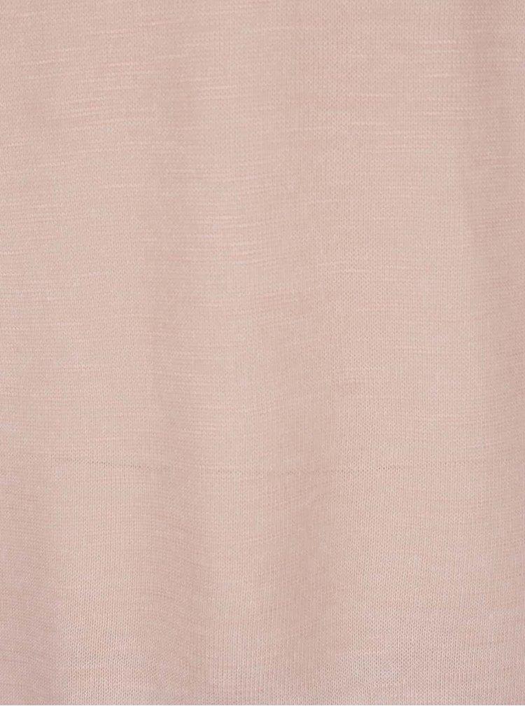 Světle růžový lehký svetr s 3/4 rukávy Haily´s Laureen