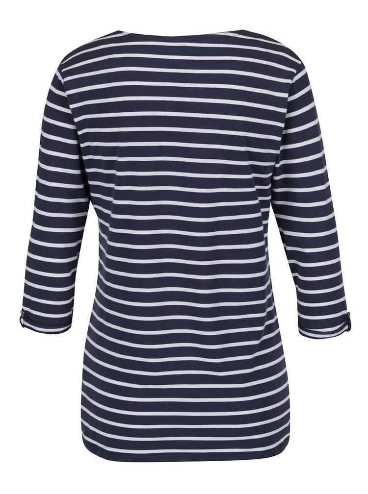 Tmavě modré pruhované basic tričko Zabaione Anna