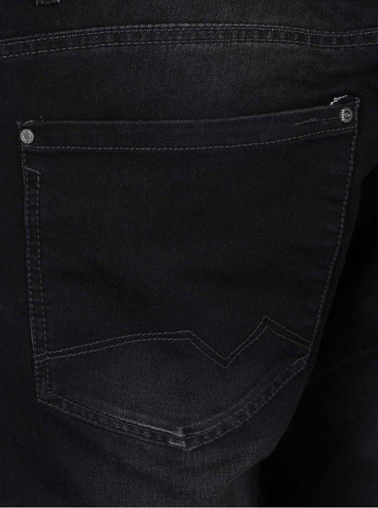 Černé slim fit džíny s vyšisovaným efektem Blend