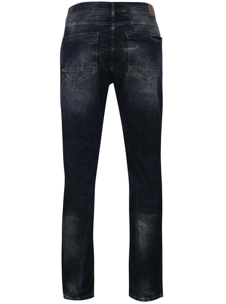 Tmavě modré slim fit džíny s vyšisovaným efektem Blend