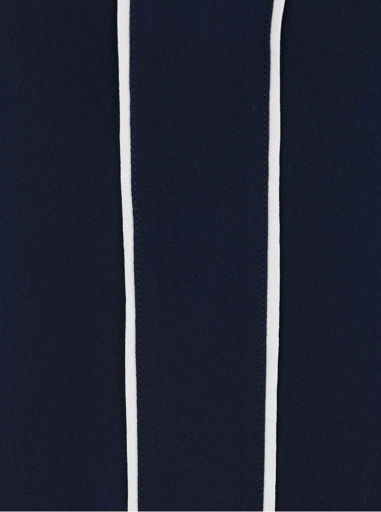 Tmavě modrá halenka s krémovými detaily Dorothy Perkins Petite