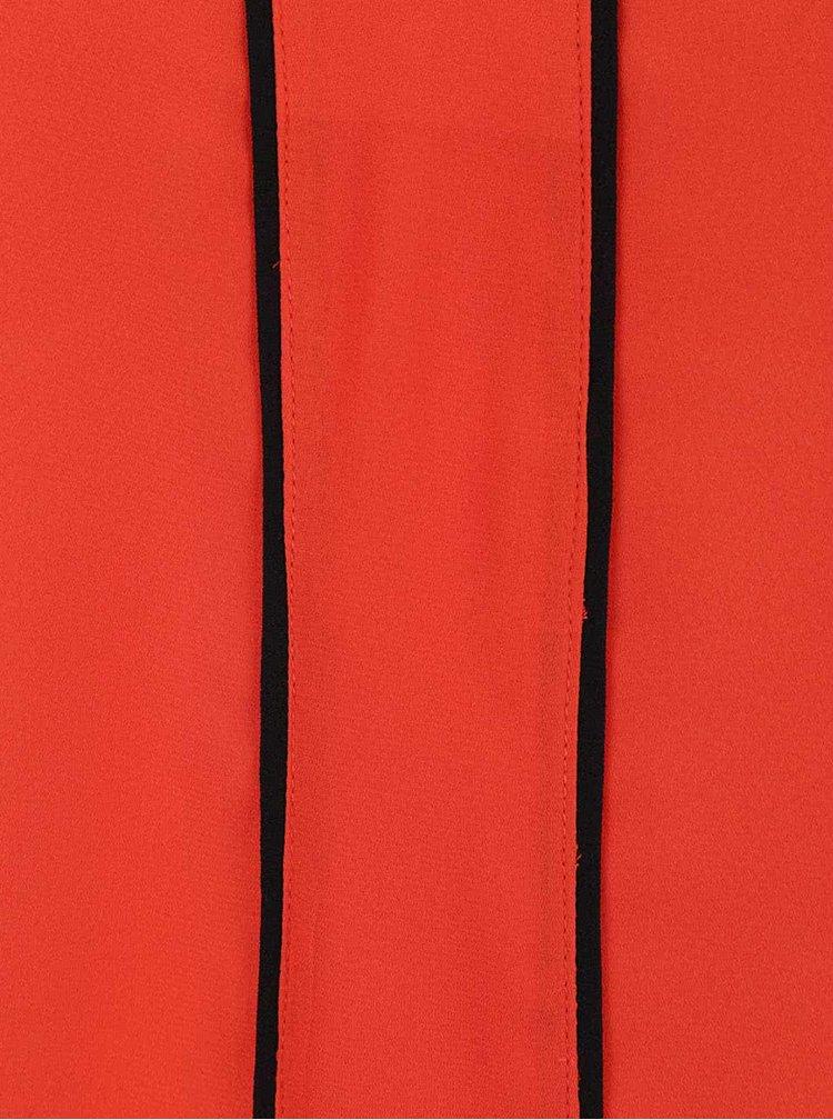 Oranžová halenka s černými detaily Dorothy Perkins Petite