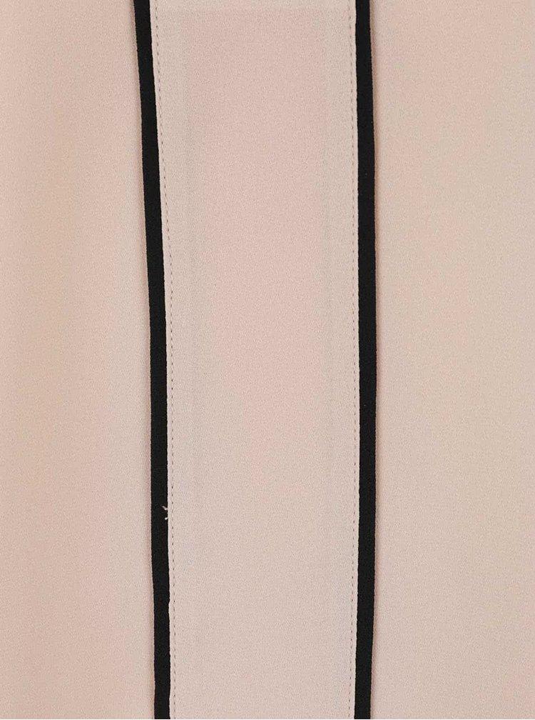 Béžová halenka s černými detaily Dorothy Perkins Petite