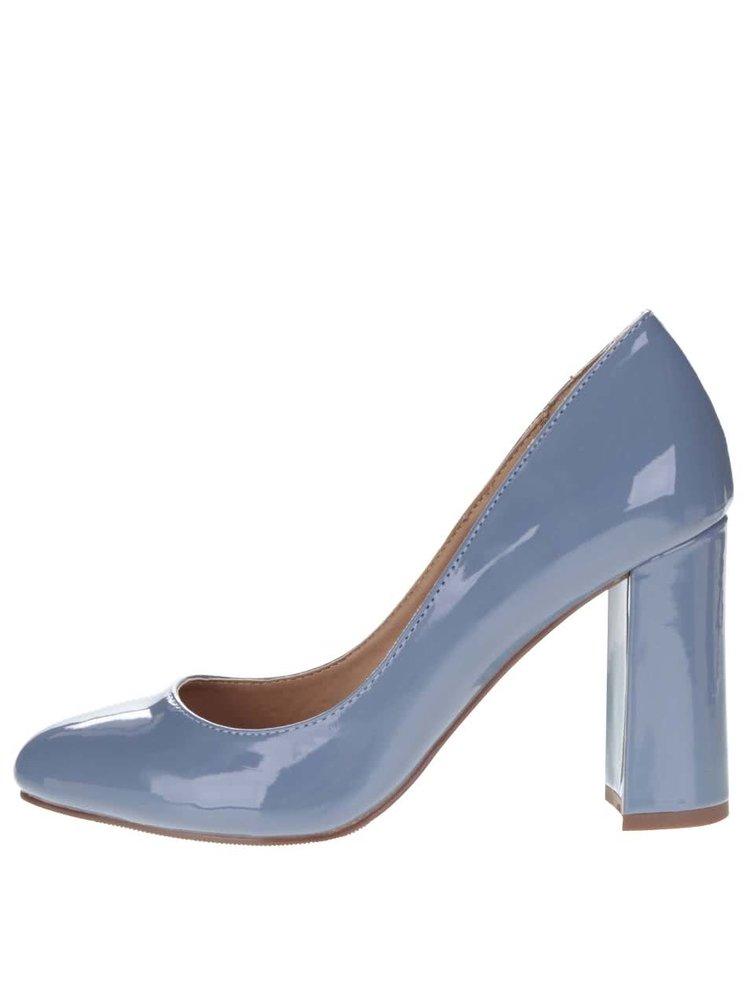 Modrošedé boty na podpatku Dorothy Perkins