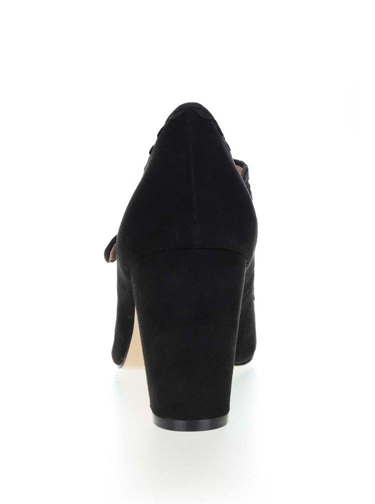 Pantofi negri Dorothy Perkins cu toc solid