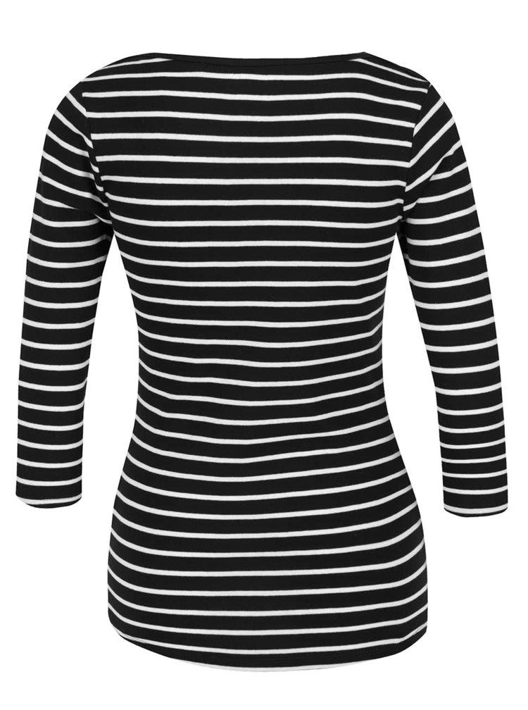 Černé pruhované tričko Haily´s Zora