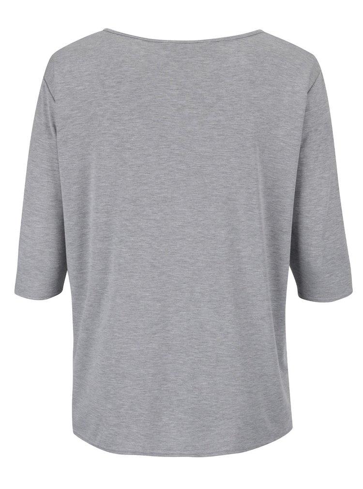 Šedé tričko s potiskem Dorothy Perkins Curve