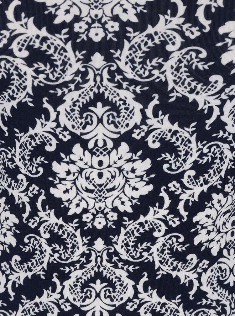 Tmavě modré vzorované tílko Haily's Cami Linda