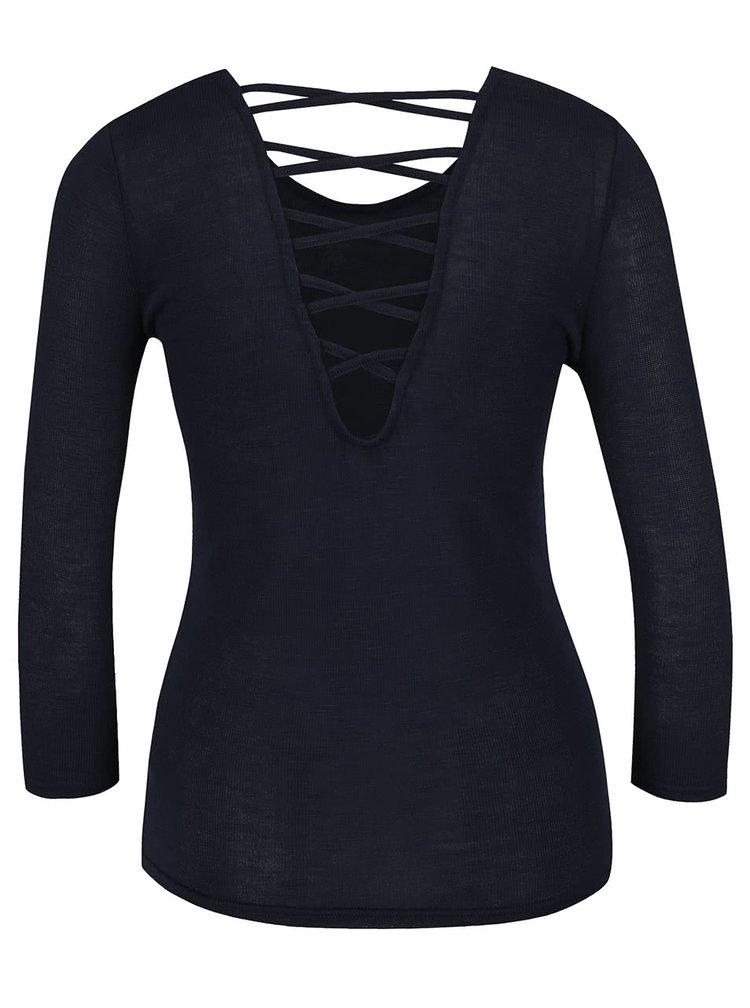 Tmavě modré tričko s 3/4 rukávem Haily's Jenny