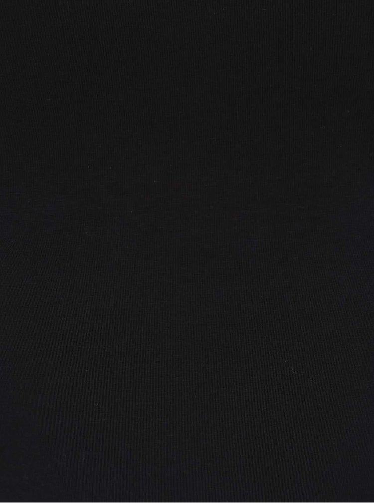 Tricou negru Haily's Mona basic