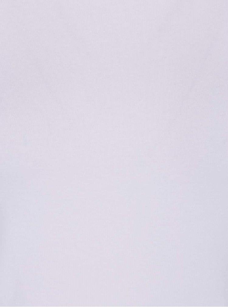 Biele basic tričko s krátkym rukávom Haily's Mona