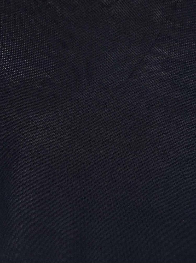 Bluza bleumarin Haily's Mary Solid cu maneci 3/4