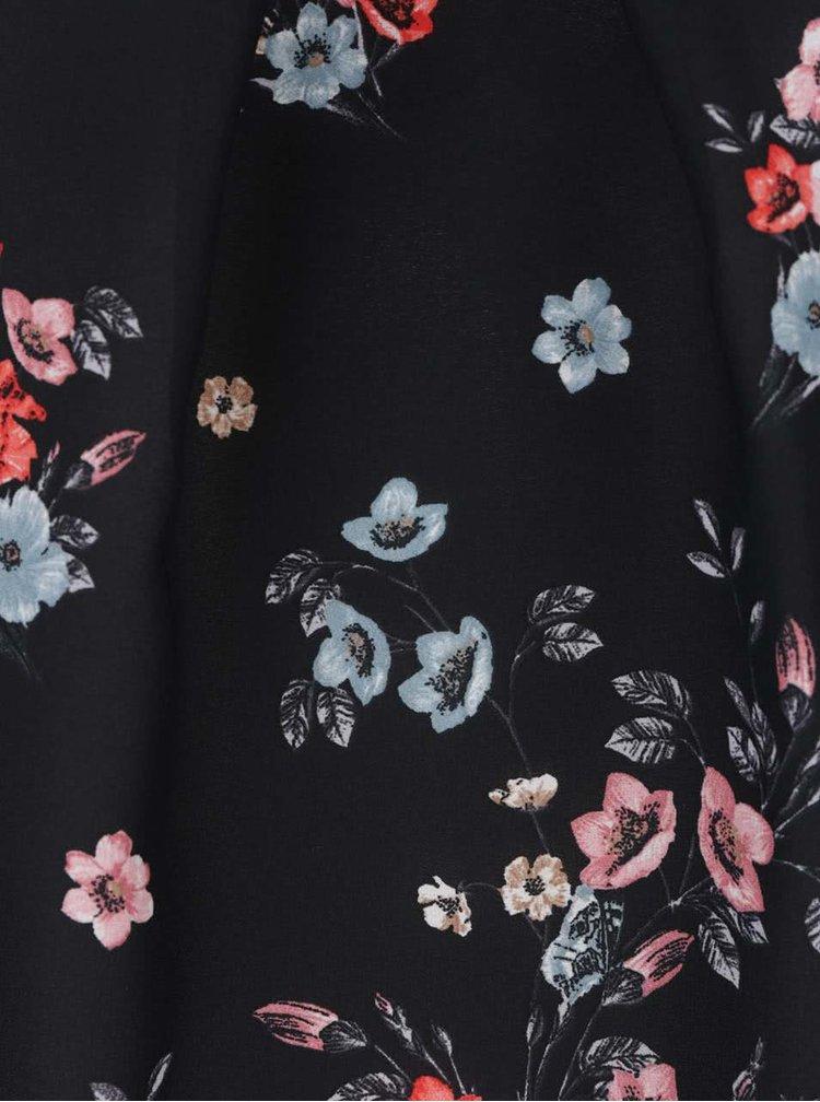 Černá květovaná halenka Billie & Blossom Petite