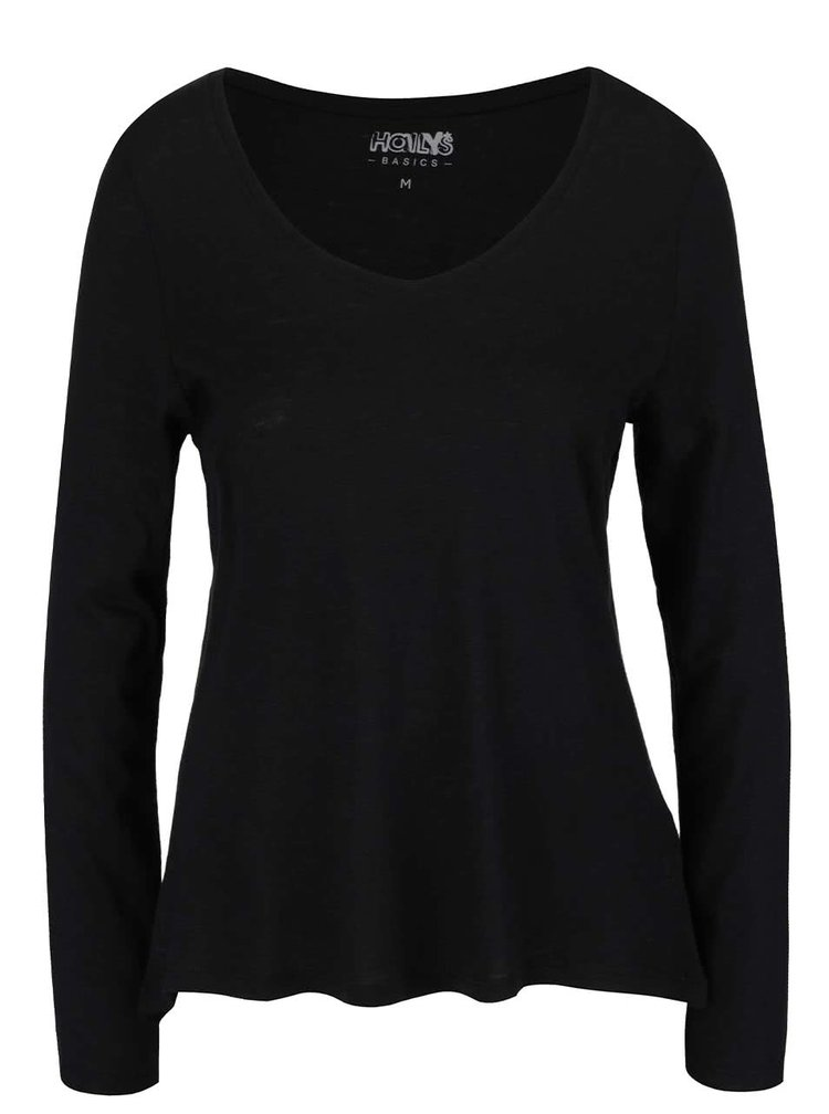 Černé lehké basic tričko Haily's Janne