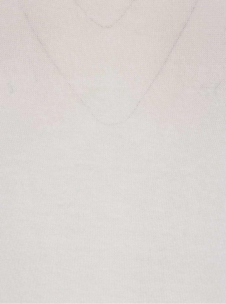 Bluză crem Haily's Mary Solid cu mâneci 3/4