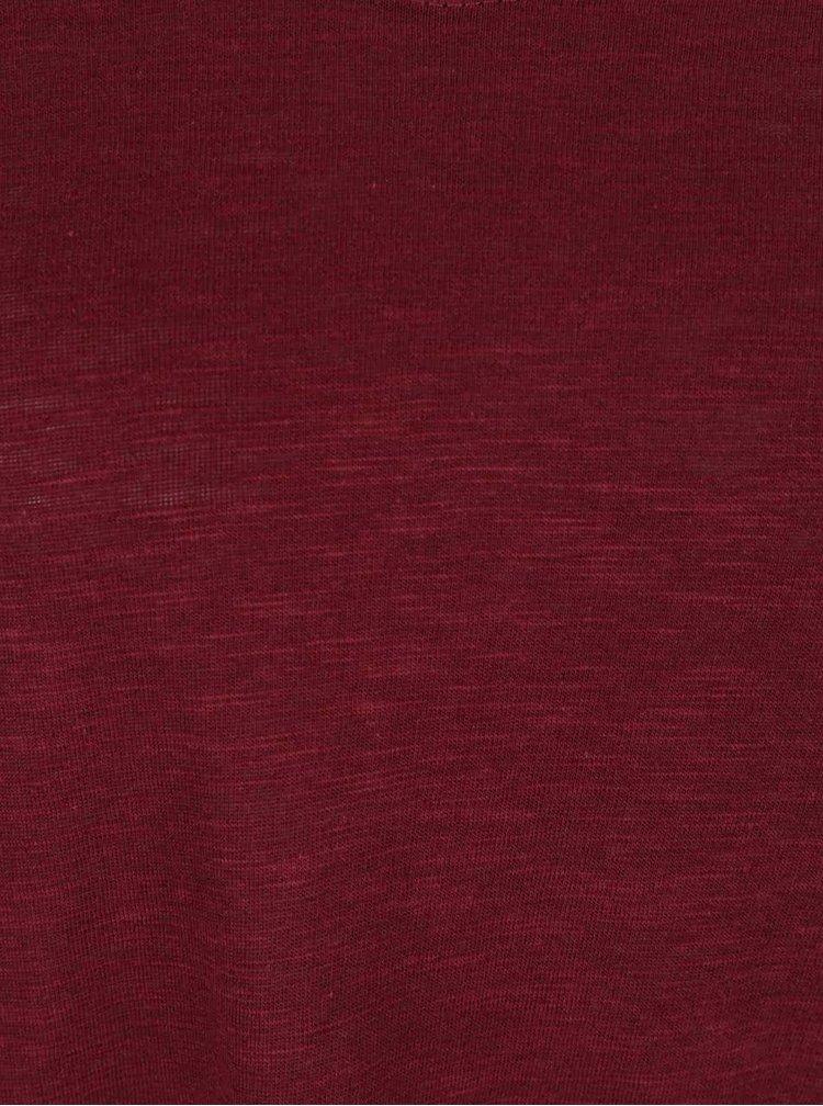 Bluza rosu bordeaux Haily's Janne cu decolteu en coeur