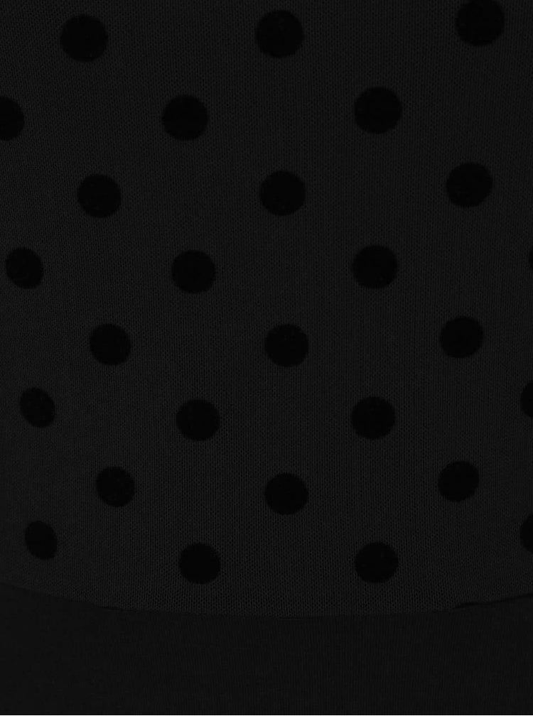 Rochie neagră Dorothy Perkins cu material translucent