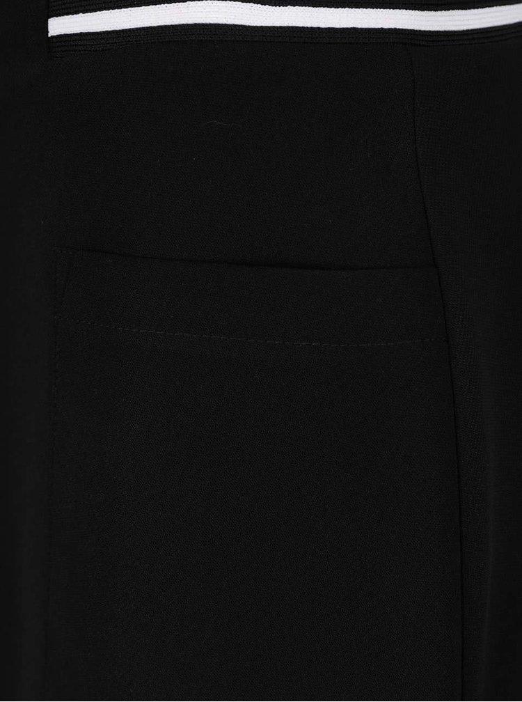 Černá sukně se zipem a kapsami Dorothy Perkins