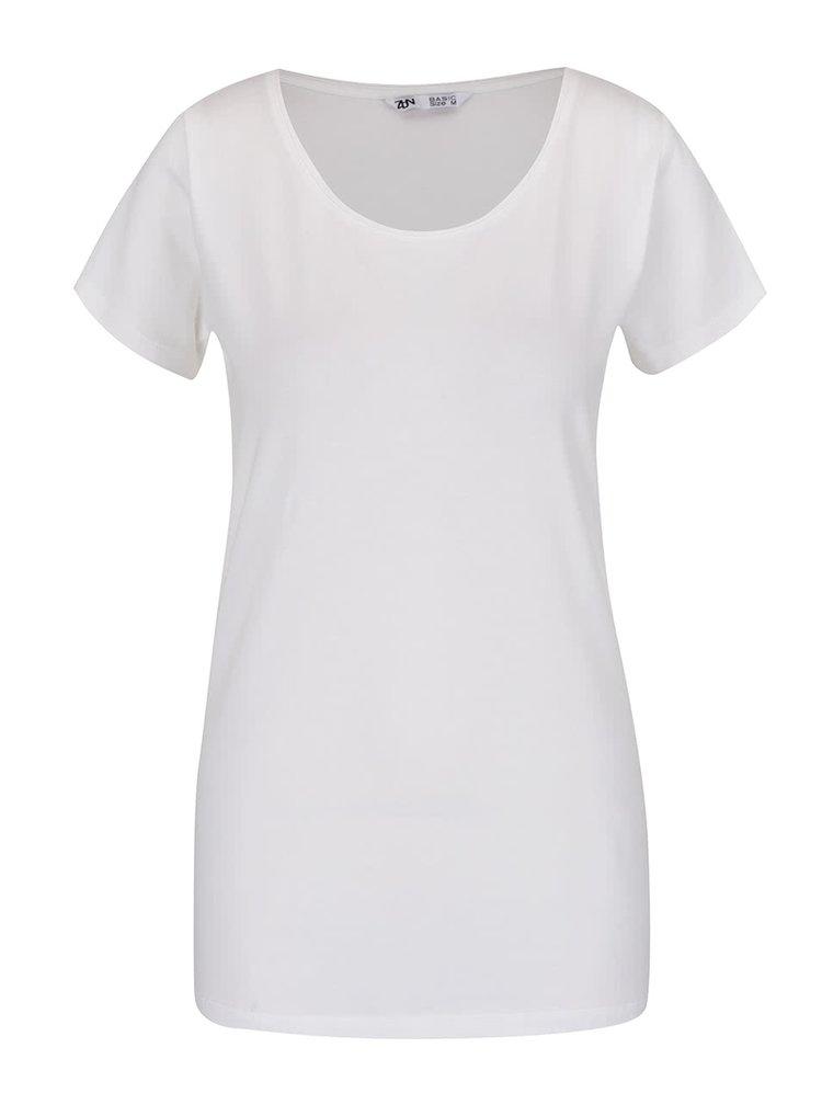 Krémové basic tričko s kulatým výstřihem Zabaione Steffi