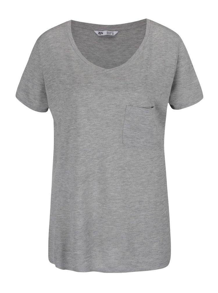 Šedé volné basic tričko Zabaione Eva