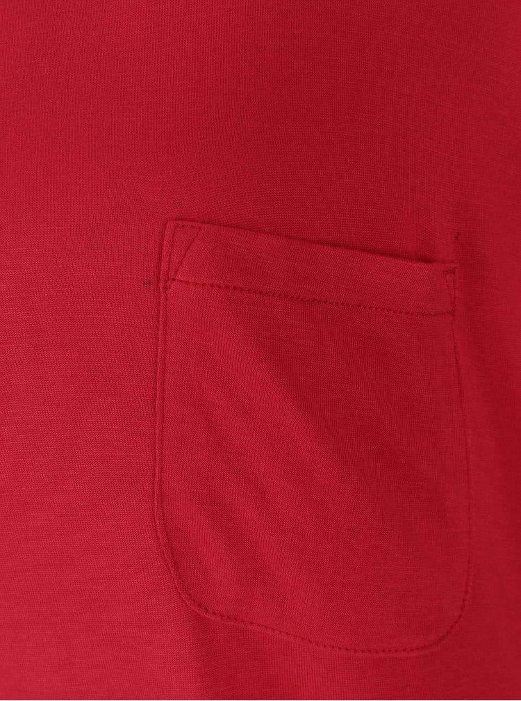 Červené volné basic tričko Zabaione Eva