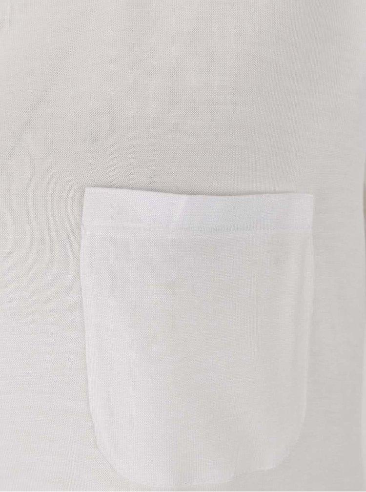 Krémové volné  basic tričko Zabaione Eva