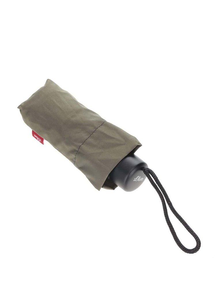 Khaki dámský skládací deštník s.Oliver