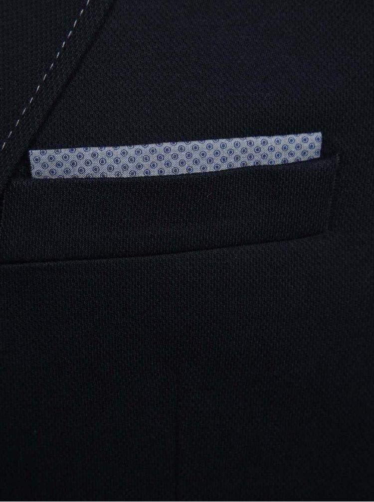 Sacou bleumarin Fynch-Hatton din bumbac cu detaliu