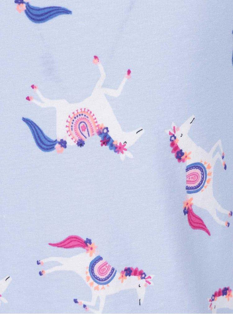 Světle modré holčičí šaty s potiskem koní Tom Joule