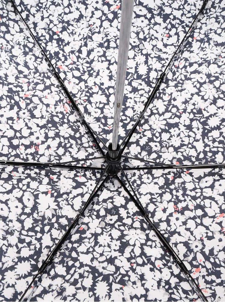 Tmavě modrý vzorovaný deštník Tom Joule Brolly