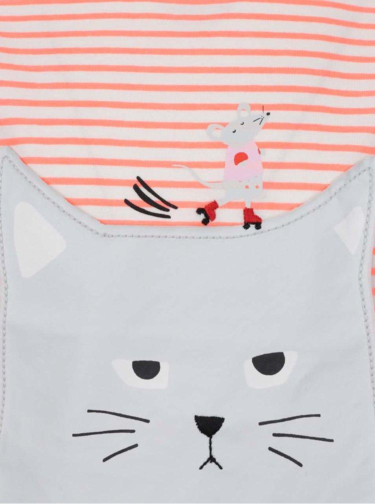 Tricou crem cu portocaliu Tom Joule pentru fete