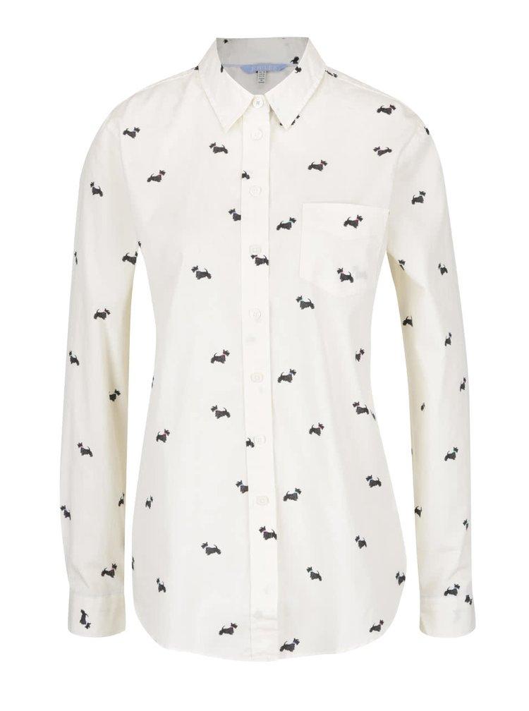 Krémová dámská košile s potiskem Tom Joule Lucie Print