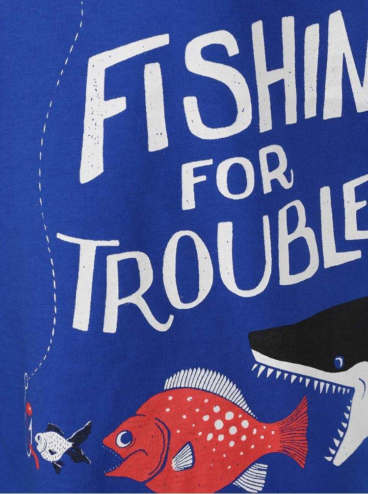 Tricou albastru Tom Joule cu print pentru baieti