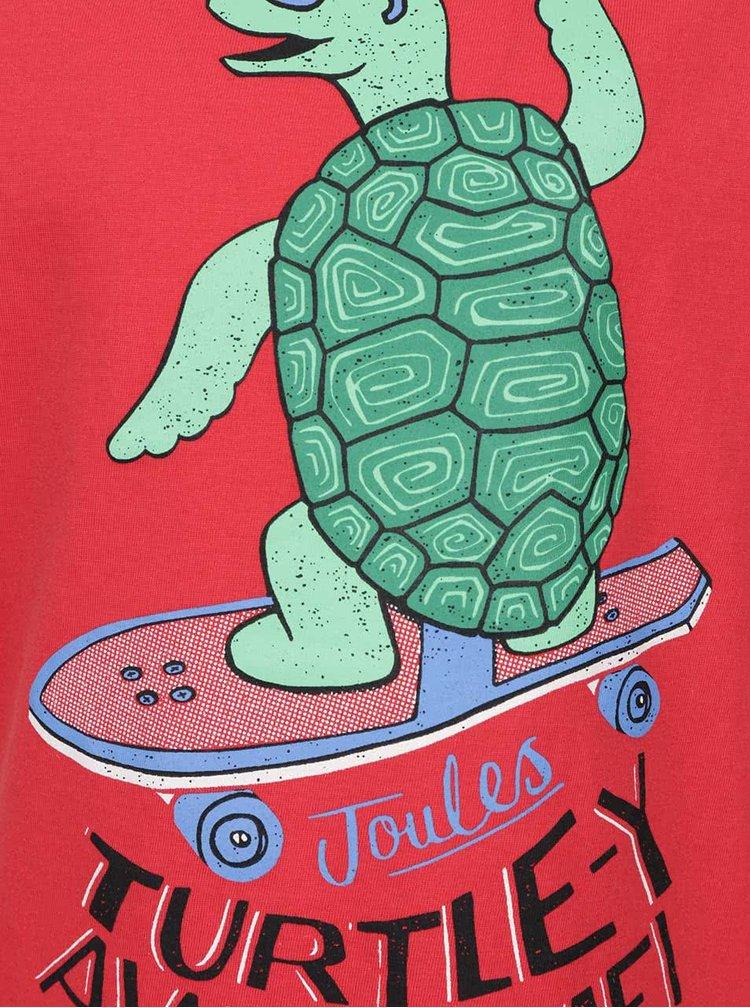 Tricou rosu de baieti Tom Joule cu print