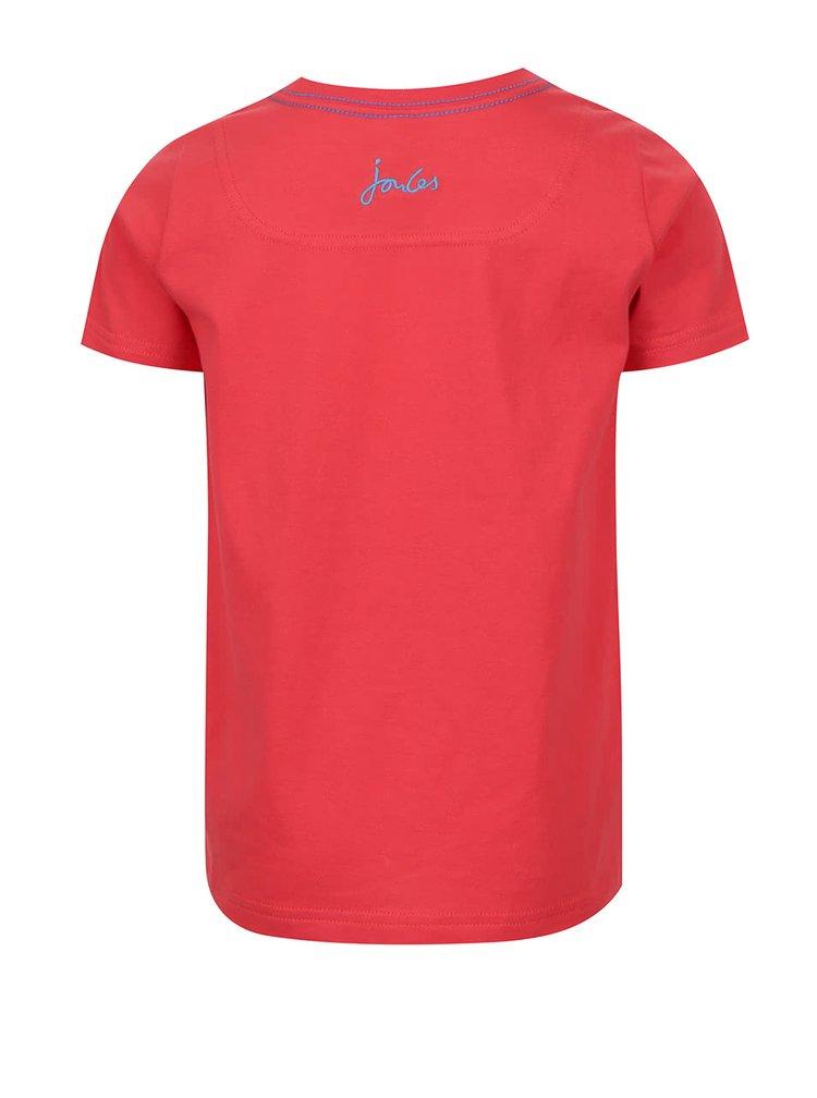 Tricou roșu de băieți Tom Joule cu print