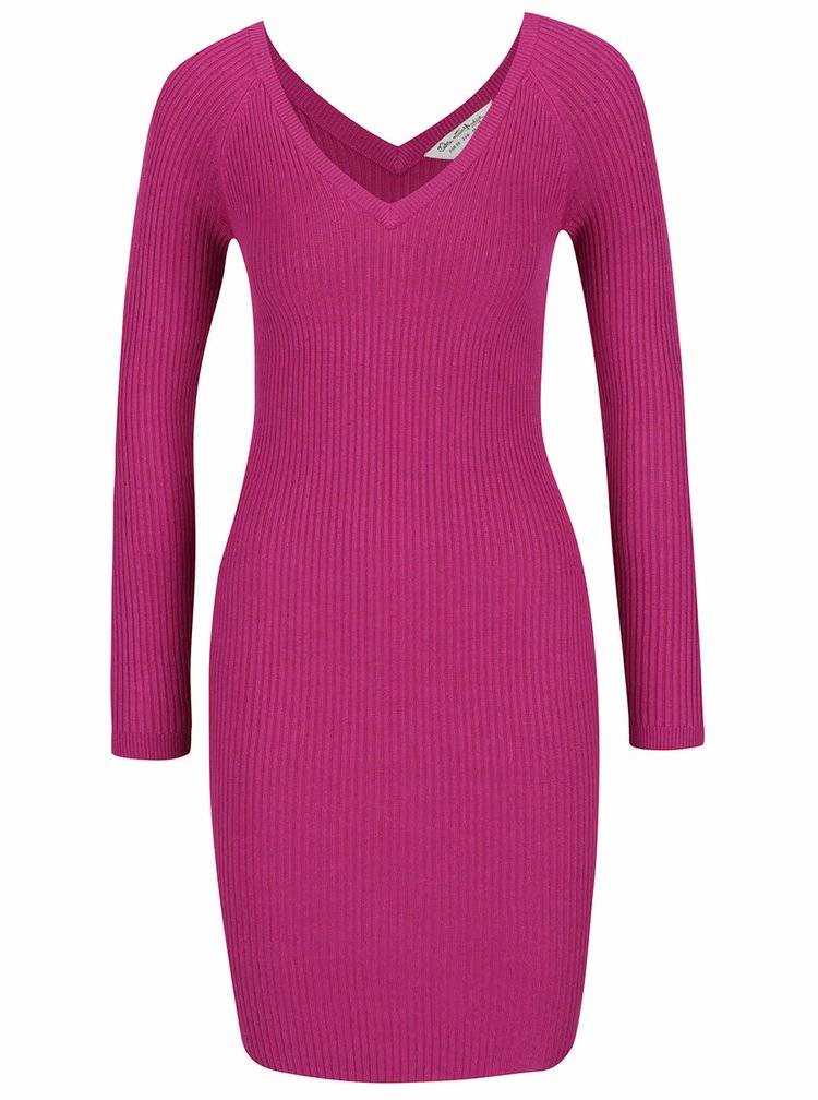 Růžové svetrové šaty Miss Selfridge