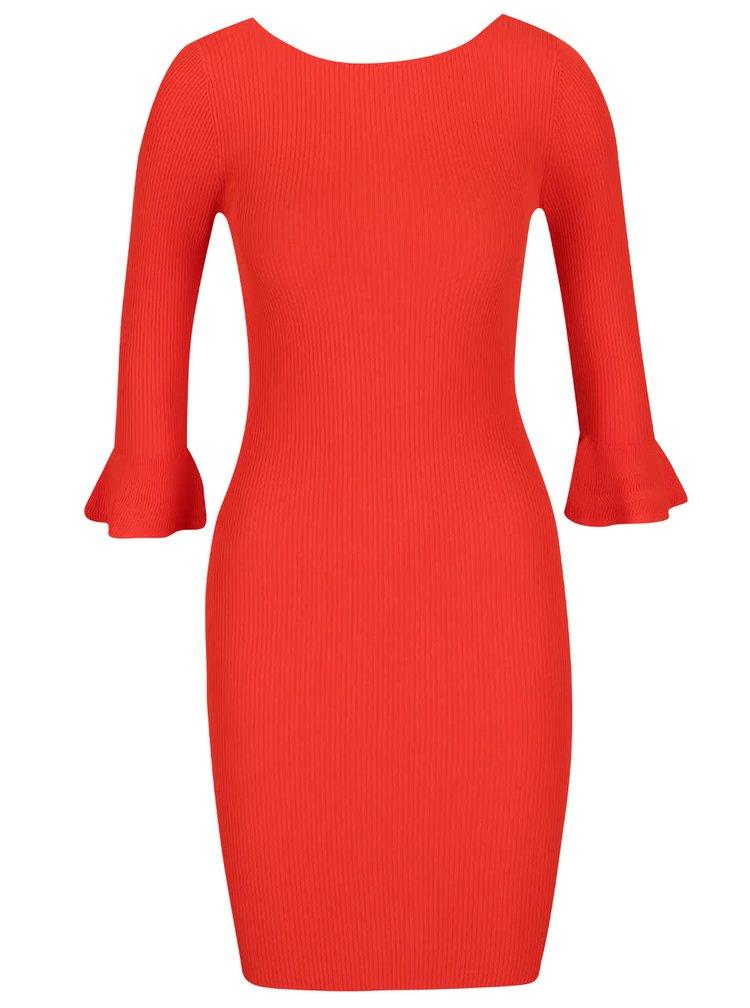 Rochie roșu corai Miss Selfridge din jerseu subțire