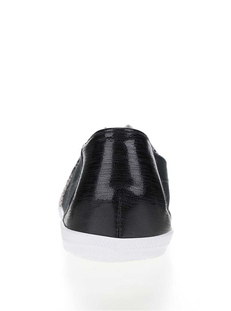 Teniși slip on negru & gri Tamaris cu model în zig-zag
