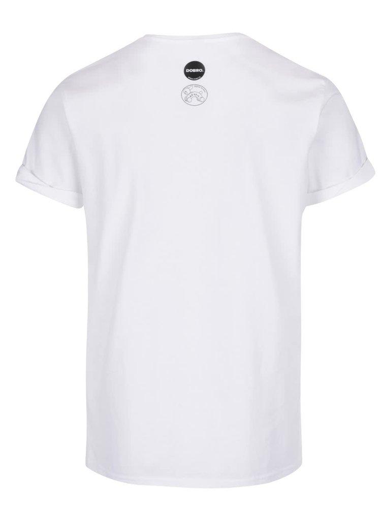 """""""Dobré"""" biele pánske tričko pre Zajačika na koni"""