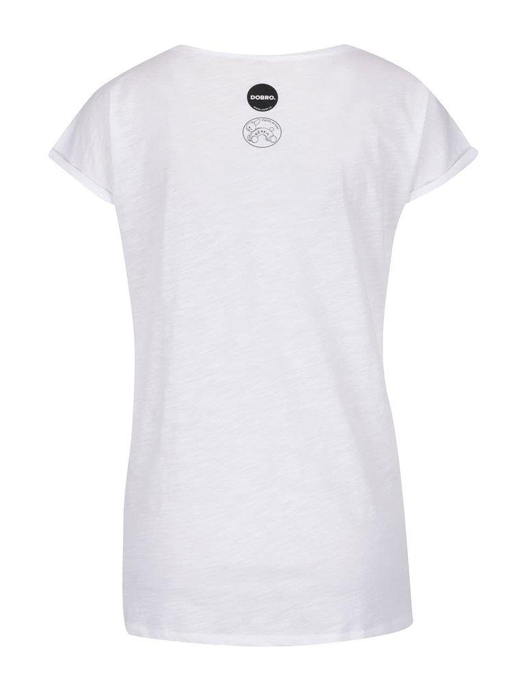 """""""Dobré"""" bílé dámské tričko pro Zajíčka na koni"""