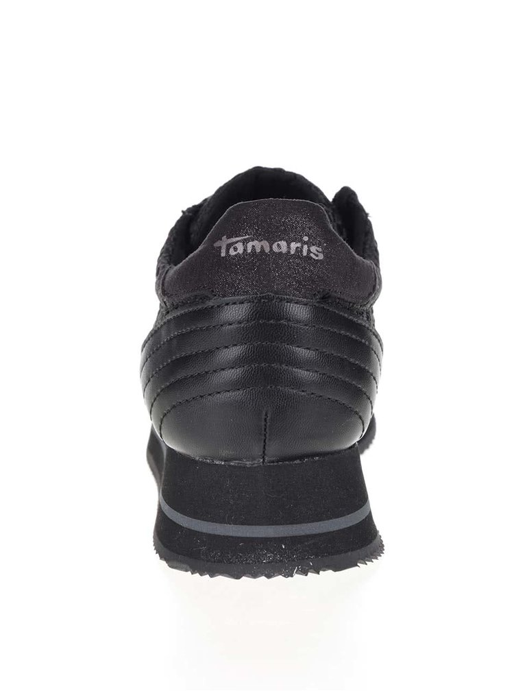 Pantofi sport negri Tamaris cu platformă