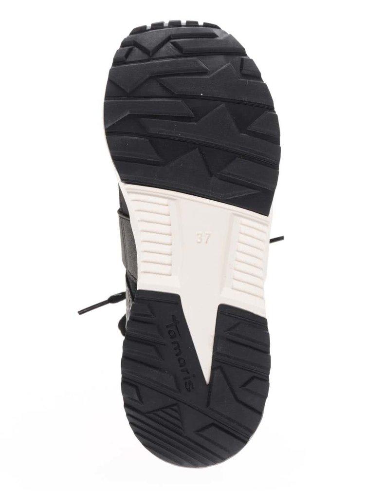 Pantofi sport negri Tamaris cu detalii gri