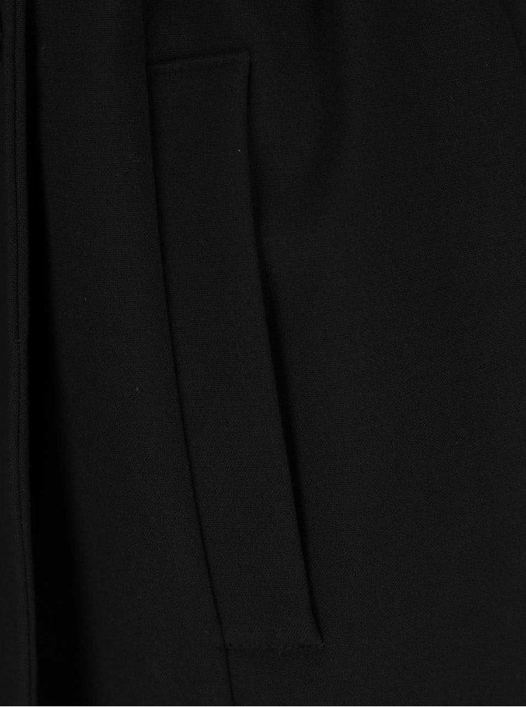 Trenci subțire negru Miss Selfridge cu detalii metalice