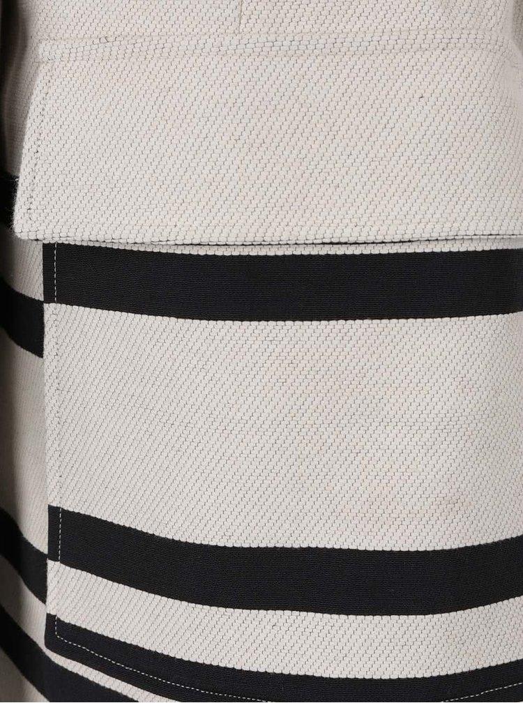 Palton subțire crem cu negru French Connection Escher