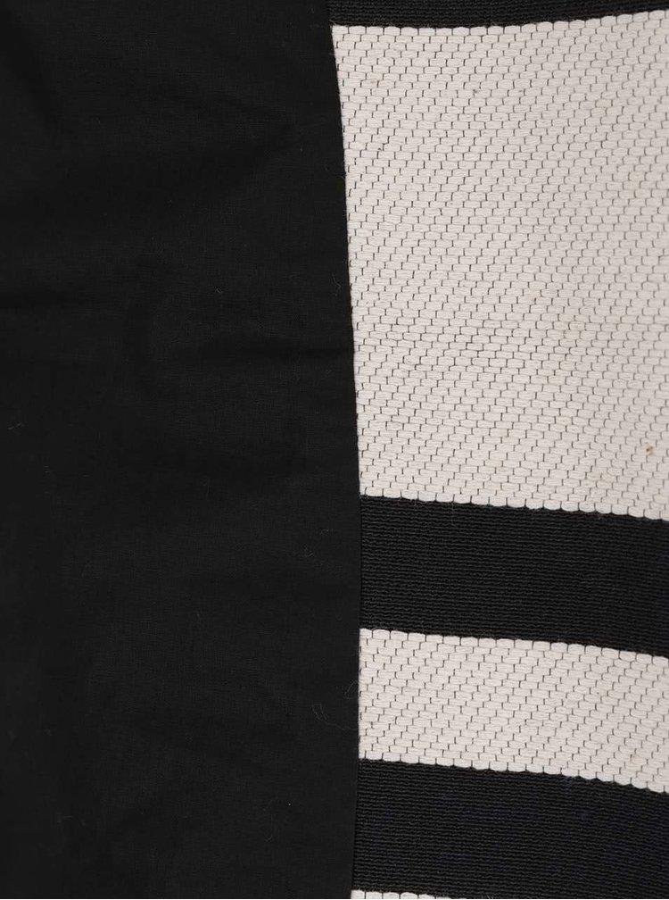 Palton subtire crem cu negru French Connection Escher