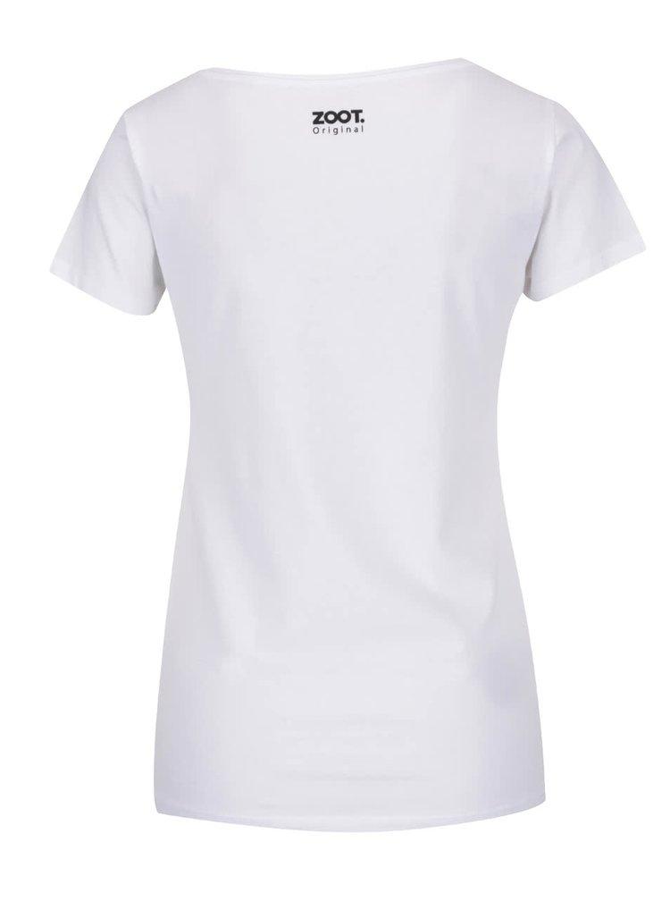 Bílé dámské tričko ZOOT Originál Růže