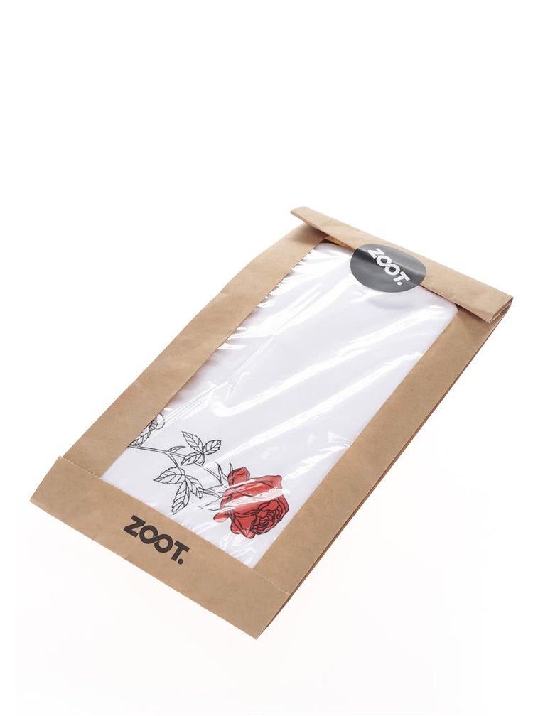 Tricou alb de dama ZOOT Original Rose