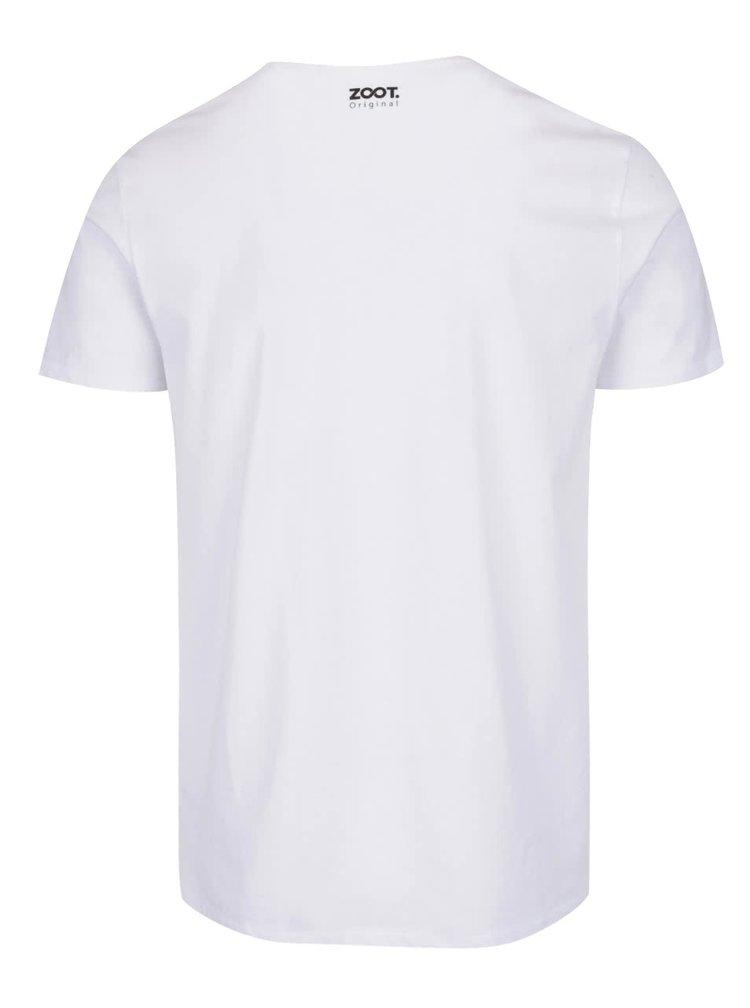 Tricou alb pentru barbati ZOOT Original Half a Heart