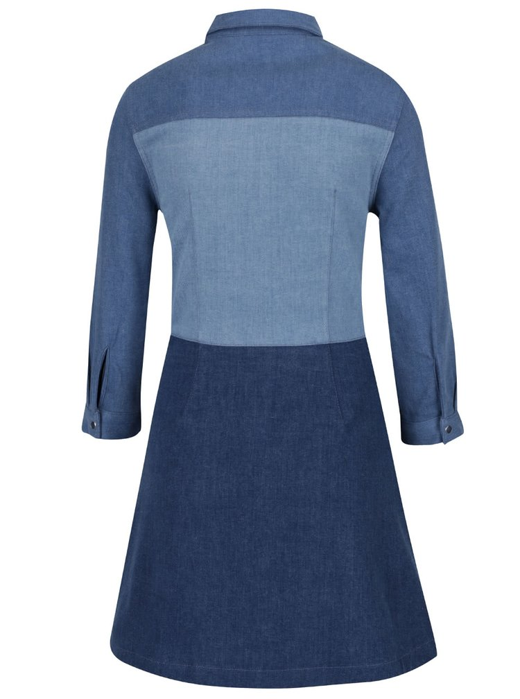 Rochie albastra French Connection Edie din denim