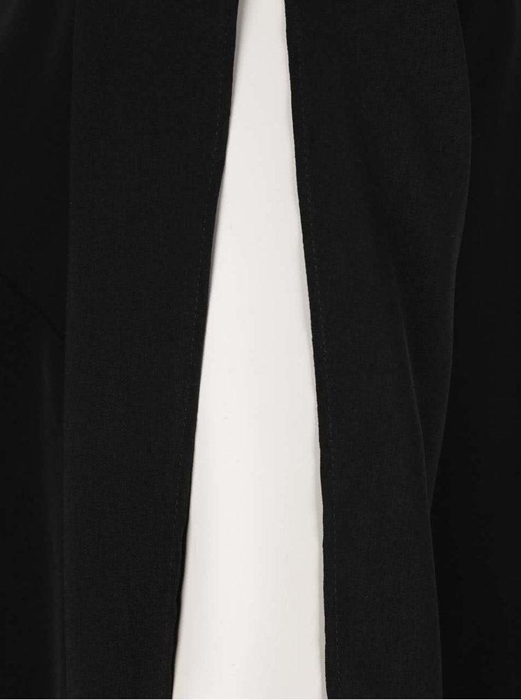 Černé volné šaty s průstřihy na rukávech Wolf & Whistle